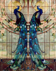 stained glass beautiful bird art bali