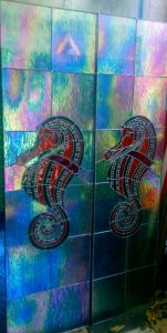 stained glass bali seahorse