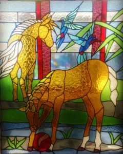stained glass horse bali